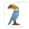 Big Mouth Toucan Bird Fiberglass Resin Sculpture Art Size Description