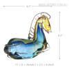 Blue Horse Glass Sculpture Art Animal Miniature Size Description