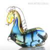 Blue Horse Glass Sculpture Art Animal Miniature (1)