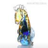 Blue Horse Glass Sculpture Art Animal Miniature (3)