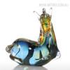 Blue Horse Glass Sculpture Art Animal Miniature (2)