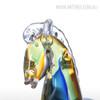 Blue Horse Glass Sculpture Art Animal Miniature (4)
