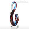 Musical Note Design Glass Statue Sculpture Art (2)