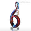 Musical Note Design Glass Statue Sculpture Art (3)