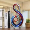 Musical Note Design Glass Statue Sculpture Art (5)