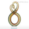 Abstract Sculpture Multicolor Surround Pattern Glass Statue (2)