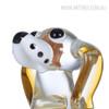 Puppy Dog Glass Figurine Animal Sculpture Art (3)