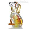 Puppy Dog Glass Figurine Animal Sculpture Art (1)