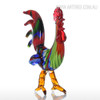 Colorful Rooster Glass Miniature Cock Sculpture Art (3)