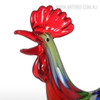 Colorful Rooster Glass Miniature Cock Sculpture Art (4)