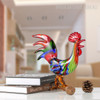 Colorful Rooster Glass Miniature Cock Sculpture Art (2)