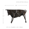 Black Wild Cattle Bronze Sculpture Animal Figurine Size