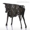 Black Wild Cattle Bronze Sculpture Animal Figurine (2)