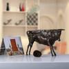Black Wild Cattle Bronze Sculpture Animal Figurine (4)