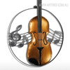 Iron Metal Violin Sculpture Art Wall Hanging Figurine (2)