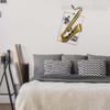 Handmade Iron Metal Saxophone Sculpture Art Musical Instrument Figurine (3)