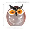 Chubby Owl Miniature Bird Glass Sculpture Size Description