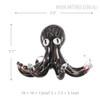 Black Octopus Glass Sculpture Sea Animal Miniature Size Description