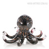 Black Octopus Glass Sculpture Sea Animal Miniature (3)