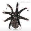Black Octopus Glass Sculpture Sea Animal Miniature (4)