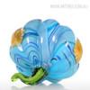 Blue Pumpkin Glass Miniature vegetable Theme Contemporary Sculpture (3)