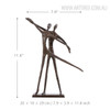 Dancing Couple Bronze Sculpture Contemporary Statue Size Description