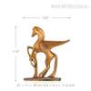 Golden Flying Horse Bronze Sculpture Contemporary Animal Statue Size