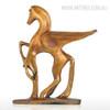 Golden Flying Horse Bronze Sculpture Contemporary Animal Statue (2)