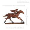Contemporary Horse Racer Statue Bronze Metal Sculpture Art Size