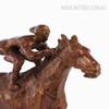 Contemporary Horse Racer Statue Bronze Metal Sculpture Art (4)