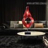 Red Abstract Eye Sculpture Contemporary Resin Art (1)