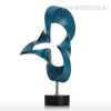 Blue Abstract Flame Sculpture Contemporary Resin Art (2)