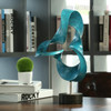 Blue Abstract Flame Sculpture Contemporary Resin Art (4)