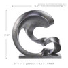 Grey Spoondrift Resin Art Modern Sculpture Statue Size