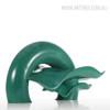 Abstract Ripple Wave Bronze Sculpture Modern Resin Art Figurine (3)