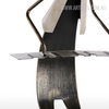 Cow Boy Music Band Musician Figurine Iron Metal Sculpture (3)
