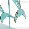 Blue Dolphin Set Iron Metal Sculpture (4)