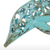 Blue Dolphin Set Iron Metal Sculpture (3)