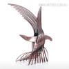 Eagle Iron Metal Sculpture Wild Hawk Bird Statue (2)