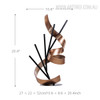 Line and Ribbon Iron Metal Statue Contemporary Sculpture Size
