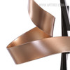 Line and Ribbon Iron Metal Statue Contemporary Sculpture (4)