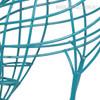 Handmade Blue Giraffe Iron Statue African Animal Metal Sculpture (4)