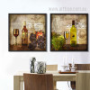 Retro Design Whiskey Wine Still life Prints for Kitchen Decor (2)