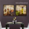 Retro Design Whiskey Wine Still life Prints for Kitchen Decor (3)