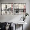 Retro Design New York Brooklyn Bridge Canvas Prints (2)