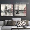 Retro Design New York Brooklyn Bridge Canvas Prints