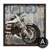 Retro Vintage Harley Motorcycle Design Canvas Print