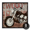 Retro Vintage Harley Motorcycle Design Canvas Print (2)