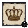 Brown Retro Vintage Crown Canvas Print