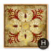 Moroccan Architecture Style Golden Red Canvas Print